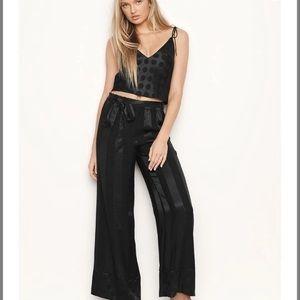 NWT Victoria's Secret Satin Polka Dot Pajama Set M